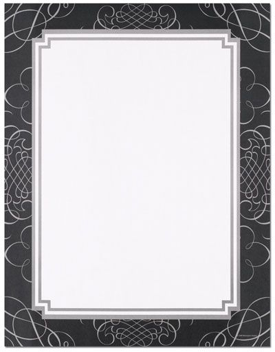 picture resume template see them all black amp silver scrolls letterhead 23995