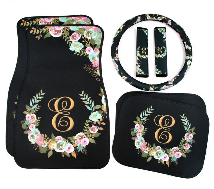 cool Mint and Gold Floral Monogrammed Car Mats Classy Black Monogram Car Floor Mats S... Car Accessories Check more at http://autoboard.pro/2017/2016/12/04/mint-and-gold-floral-monogrammed-car-mats-classy-black-monogram-car-floor-mats-s-car-accessories/