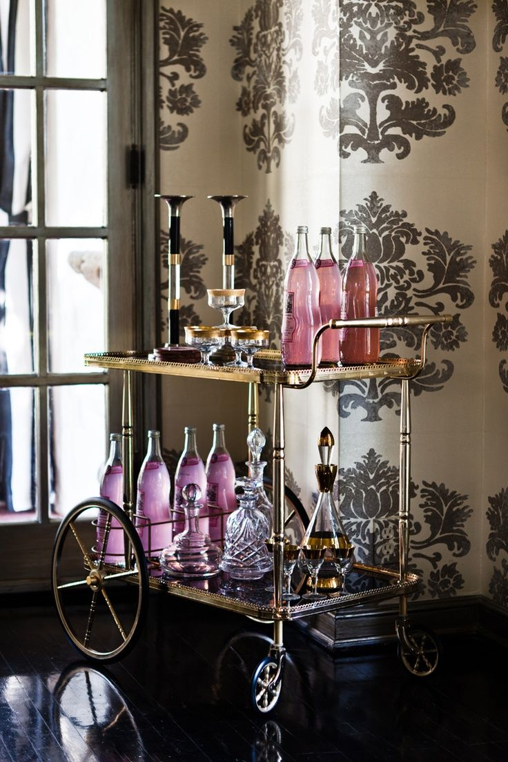 Beautiful bar cart...
