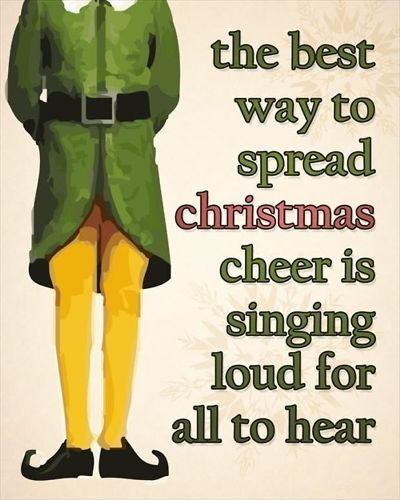 Happy Christmas messages 2016 for Facebook,whatsapp and Pinterest to greet all your friends and family members on Xmas. The quotation reads....the best way to spread Christmas cheer is singing loud for all to hear. #HappyChristmasQuotes