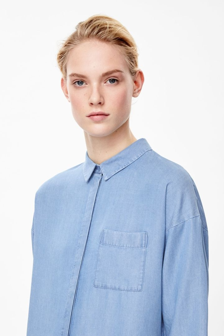COS | Denim-look shirt dress