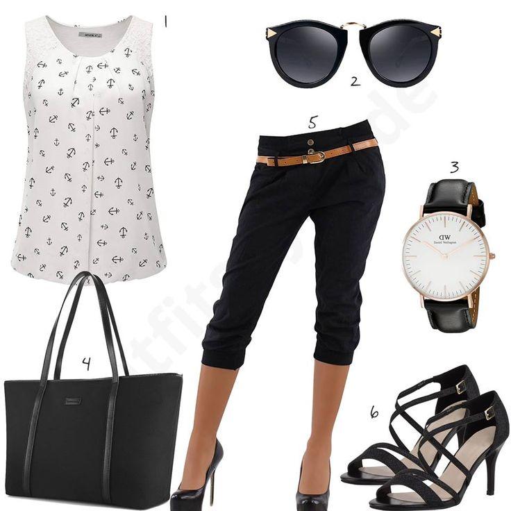 Schickes Damen-Outfit mit 3/4-Hose und Sandalen (w0475) – Annelen