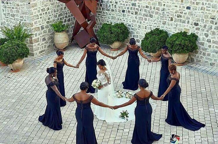 This picture is truly worth a thousand words. Photo by @akintayotimi. Love it . Bridesmaids Dresses by @aprilbykunbi #weddingsonpoint Tag your squad.