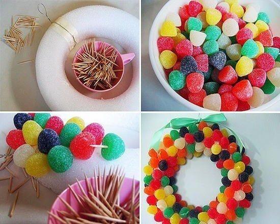 Jelly wreath.
