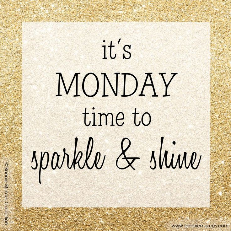 Rise, sparkle & shine! Glitter