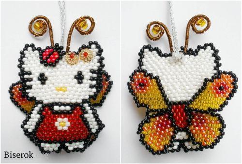 Kitty Butterfly Bead