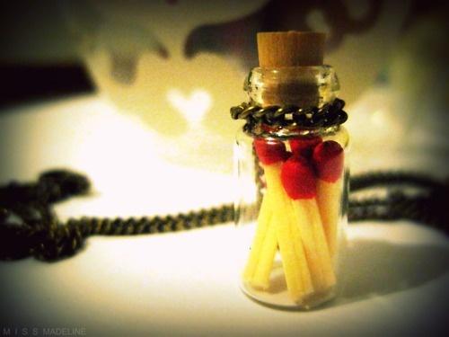 Tiny jar of matches