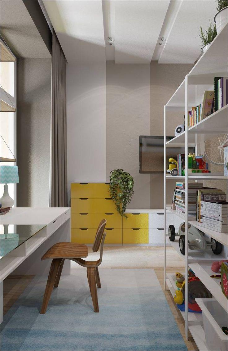 Красочные детские комнаты с игривым стилем