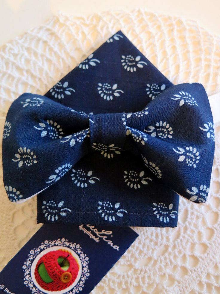 tiebow and pocket handkerchief / motýlik a vreckovka do saka