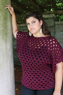 Plus Size Pacific Pullover Crochet Pattern by Danyel Pink Designs