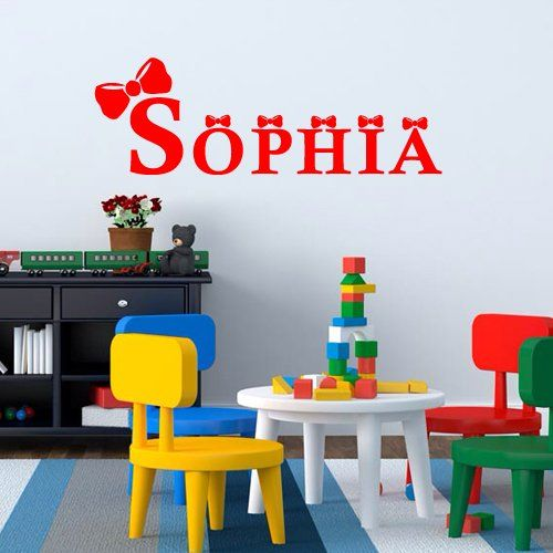 Wall Decal Sofia Name Named Custom Inscription Word Baby Personalized M1263. Thank you for visiting our store!!! Please read the whole description about this item and feel free to contact us with any questions! Vinyl wall decals are one of the latest trends in home decor. Vinyl wall decals give the look of a hand-painted quote, saying or image without the cost, time, and permanent paint on your wall. They are easy to apply and can be easily removed without damaging your walls. Vinyl wall...