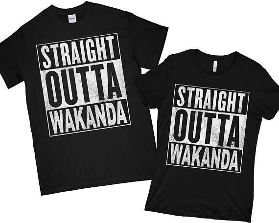 black panther Shirt Men Women Kid T shir Straight Outta Wakanda T-Shirt wakanda