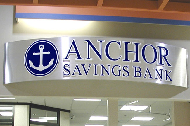 Anchor Bank Branch specific signage design, manufacture and installation - Pacific Northwest