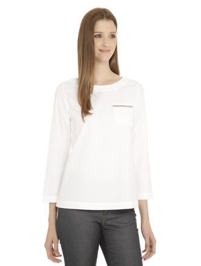 #Casacca in piquet di cotone Bianco ottico  ad Euro 0.00 in #Eugenio #Abbigliamento camicie e bluse