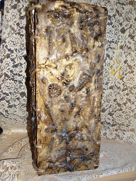 Декор предметов Мастер-класс Лепка Большая Гипсовая ваза с небольшим мк Воск парафин Гипс Краска Пластилин Ракушки фото 1