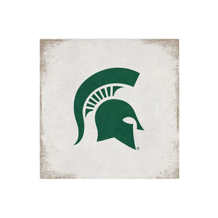 Legacy Athletic Michigan State Spartans Square Canvas Wall Art, Dark Green