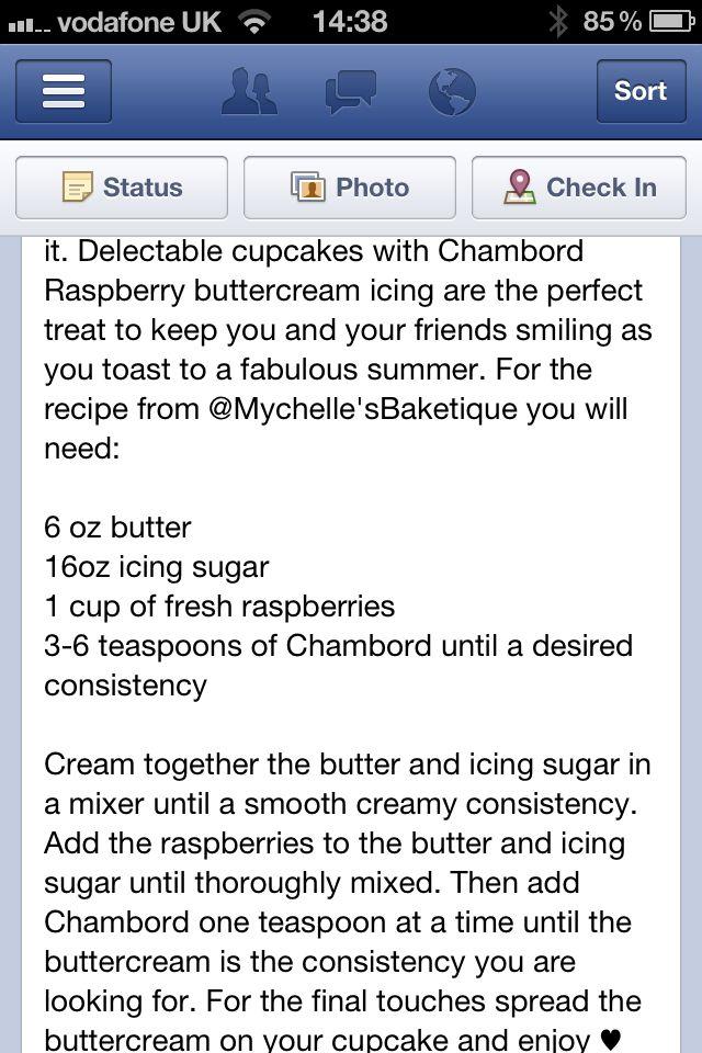 Chambord cupcakes | Recipes | Pinterest | Cupcake