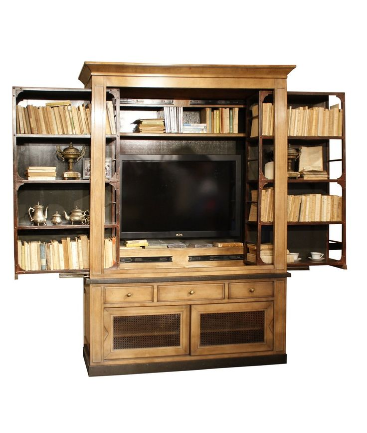 Grange   Brooklyn Tv Bookcase  Traditional, Transitional, Wood, Media Consoles  Media Cabinet by Boston Design Center Bdc