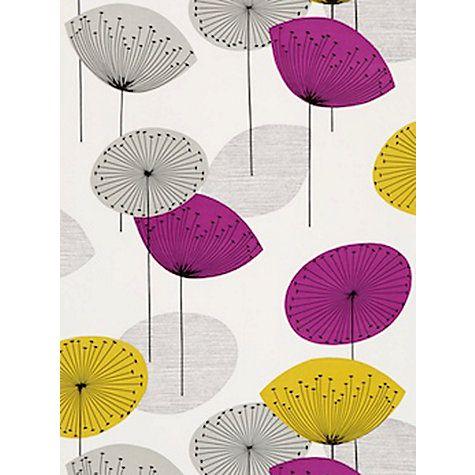 Buy Sanderson Dandelion Clocks Wallpaper, 210240, Gold/Mauve Online at johnlewis.com £42.00 L10.05m x W52cm