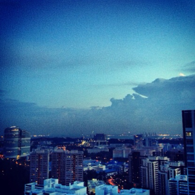 looking at singapore from a vantage point