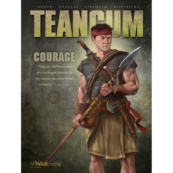 Teancum Poster Book Of Mormon