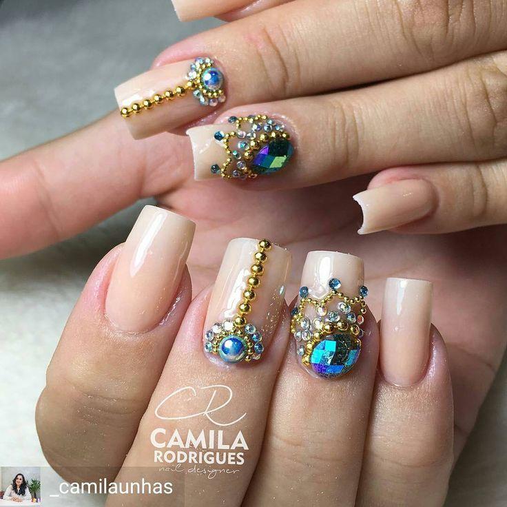 "277 Likes, 4 Comments - Tata Customizacao & Cia (@tata_customizacao_e_cia) on Instagram: ""@Regrann from @_camilaunhas - Quando a cliente diz, faz aiiiiii! Pedrarias lindas da…"""