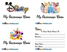 Homemade Disney Customized Autograph Book/Books • The Mouse For Less
