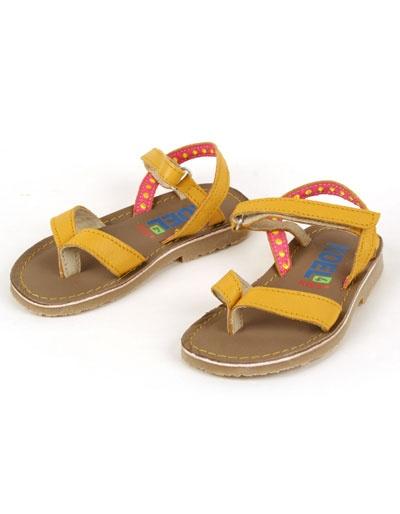 Gele lederen Stijntje sandalen - Koel for Kids - Kinderkleding online - Pepatino.be - Webwinkel voor kleine kleertjes - Aalst