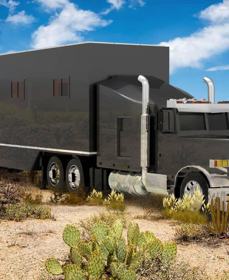 53 Off Grid Semi Truck Trailer Conversion Diesel Trucks Duramax Dodge Diesel Trucks Truck House