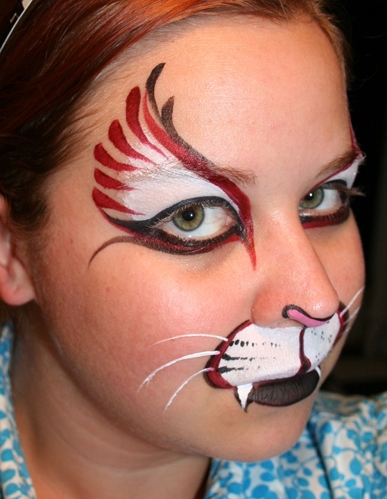 Super cool cat face painting!