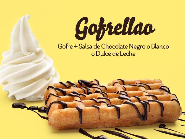 Winterllao | Yogur helado #llaollao. GOFRELLAO. Gofre + salsa de chocolate negro o blanco o dulce de leche