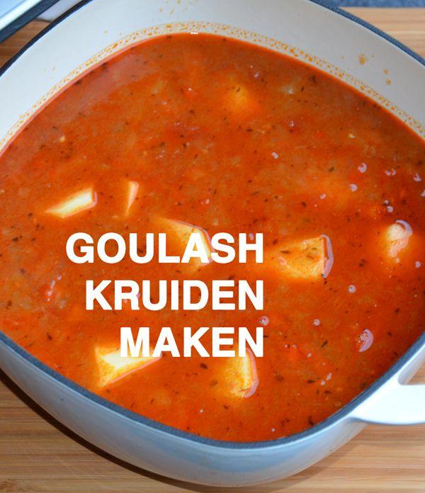 Goulash kruiden maken