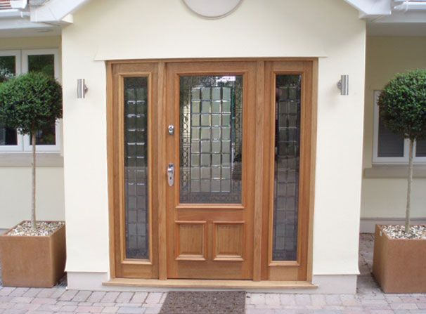 Front Doors With Sidelights Panel Oak Doorscreedmore