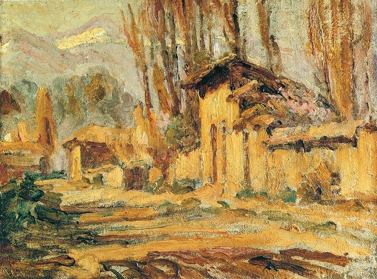 """Juan Francisco González, """"Calle de San Bernardo"""". Pintura chilena"""