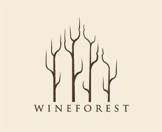 wine forestNegative Space