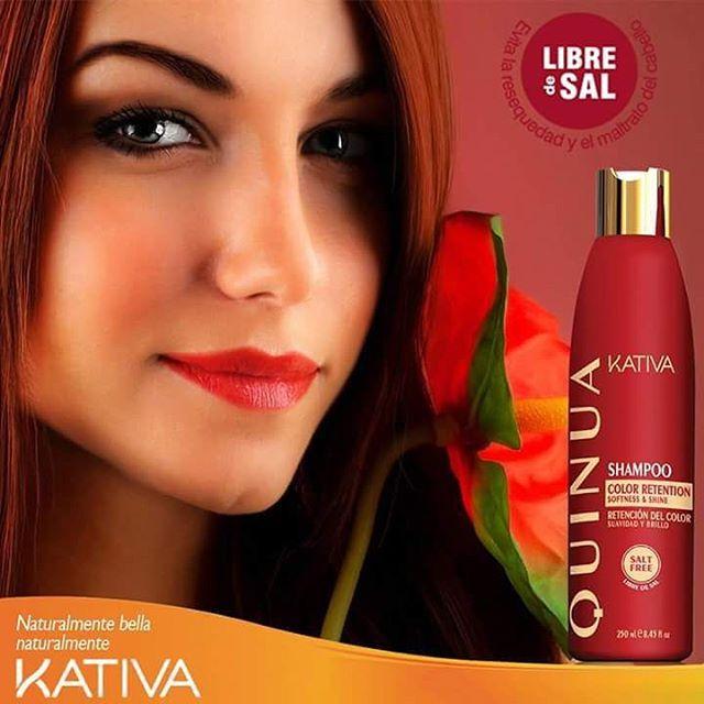 Κativa tucabello Natural Quinoa Shampoo. Καθαρίζει απαλά τα βαμμένα μαλλιά διατηρώντας το χρώμα τους και παρέχοντας μεγαλύτερη προστασία, αντοχή, διάρκεια και λάμψη.
