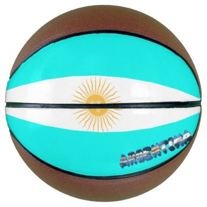 Argentinian flag basketball - simple clear clean design style unique diy