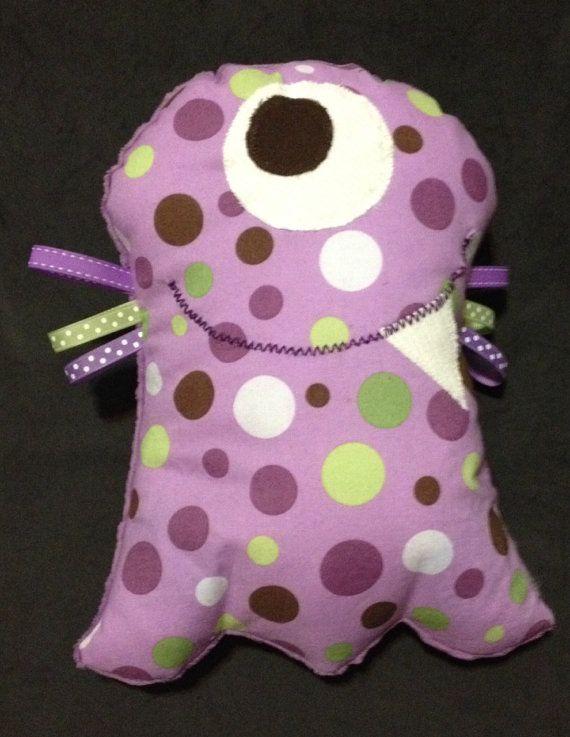 Scrinchable Monster: Purple and Green Dots $15.00