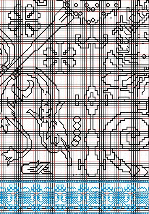 "working drawing 3 for Assisi embroidery design ""sea square"""