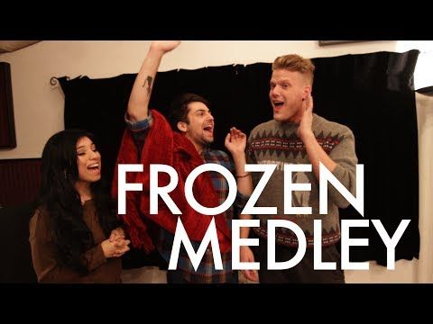 "3/5 Of Pentatonix Covers ""Frozen"" With An Amazing Medley."