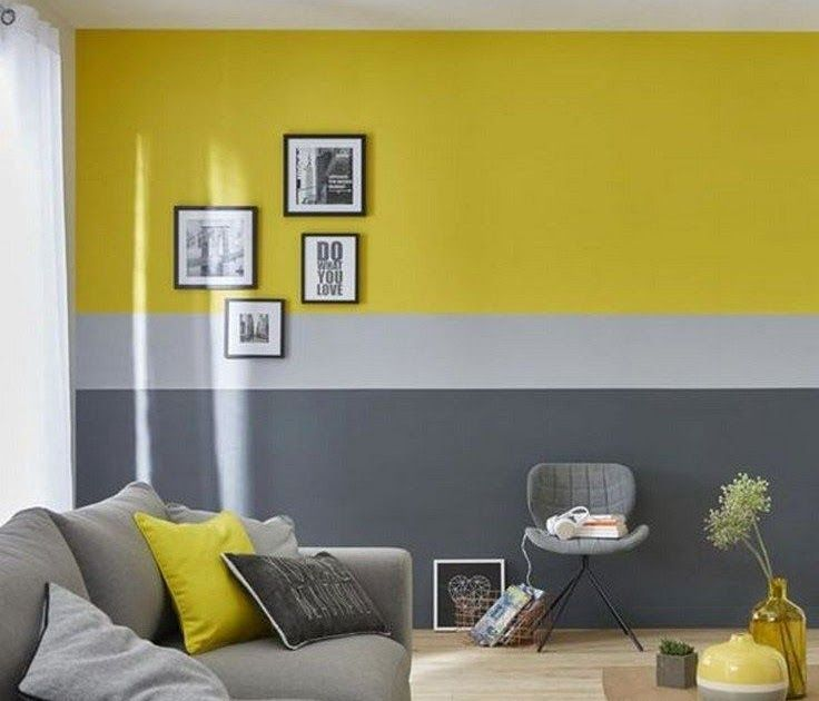 34 Stylish Yellow And Grey Living Room Decor Ideas 22 Orange Accent Wall Kitchen Sportima In 2020 Living Room Paint Accent Walls In Living Room Grey Walls Living Room