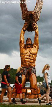 Native American Indian Sculpture, Keystone South Dakota