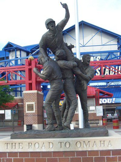 College World Series in Omaha, Nebraska. The Rosenblatt Stadium.  The stadium is gone now though.