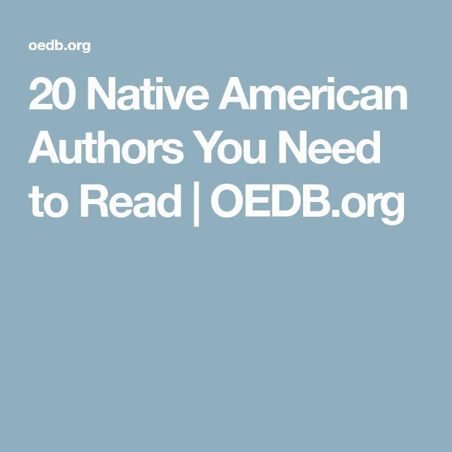 20 Native American Authors You Need to Read | OEDB.org