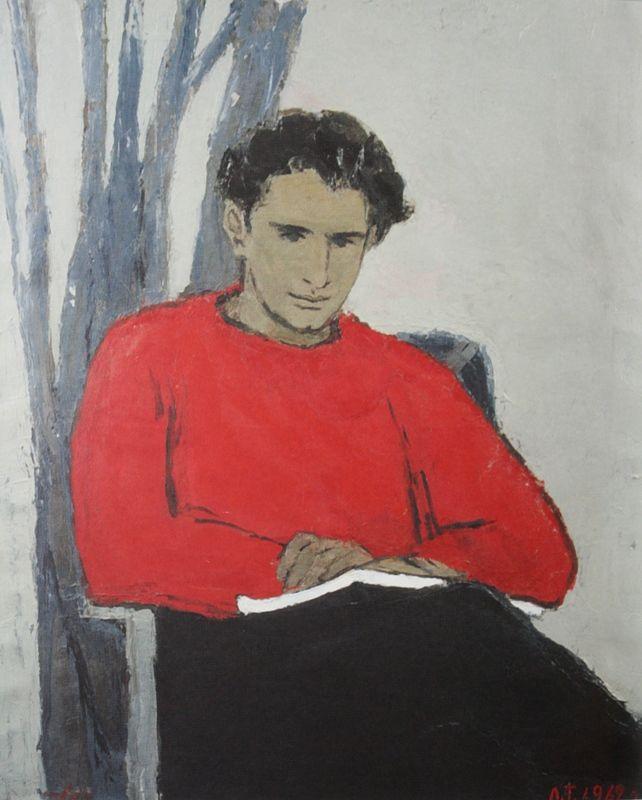 """114. Тимошенко Лидия """"Портрет сына"""" 1962 Холст, масло 108х89"""