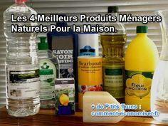Les 4 Meilleurs Produits Ménagers Naturels Pour la Maison.  Découvrez l'astuce ici : http://www.comment-economiser.fr/meilleurs-produits-nettoyants-naturels.html?utm_content=buffera01a3&utm_medium=social&utm_source=pinterest.com&utm_campaign=buffer