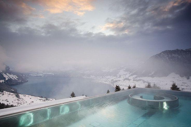 Hotel Villa Honegg, Ennetbuergen, Outdoor Pool