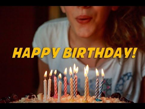 Happy Birthday to you (instrumental - lyrics video for karaoke) - YouTube