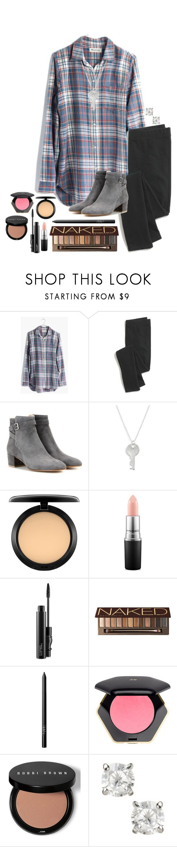"""Already tired"" by ashley-watson19 ❤ liked on Polyvore featuring Madewell, Gianvito Rossi, The Giving Keys, MAC Cosmetics, Urban Decay, NARS Cosmetics, H&M, Bobbi Brown Cosmetics and Carolee"
