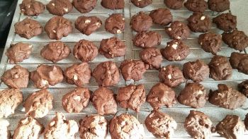 Biscuits double ou triple chocolat